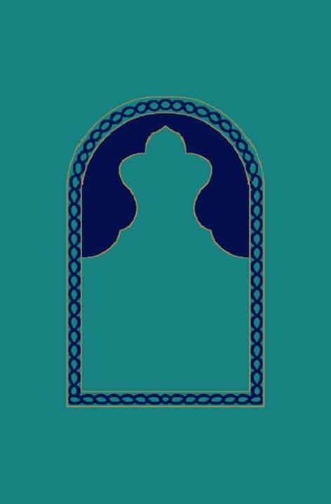 Koyu Çini - Seccadeli Cami Halısı Modeli