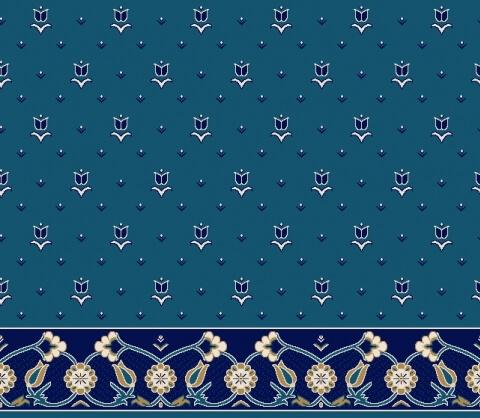 S101 Koyu Mavi - Saflı Cami Halısı Modeli
